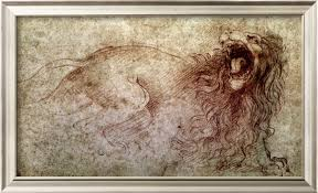 'studies of crabs' was created by leonardo da vinci in high renaissance style. Sketch Of A Roaring Lion Leonardo Da Vinci Painting D130413p00509 115 00 Paintings123 Com