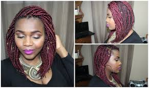 Layered Braids Hairstyles How To Diy Sexy Red Bob Box Braid Dantemmy Youtube