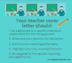 Letters For A Teacher Teacher Cover Letter