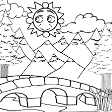 mountains coloring pages mountain lion page free printable pictures to color kids and smoky