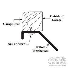 9 foot garage doorFoot Bottom Door Seal Weatherstrip for Garage Door  Black