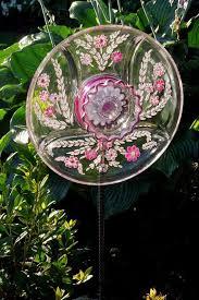 garden glass flower reused clear glass dishes diy handmade ideas