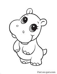 Baby Hippo Coloring Pages Animal Coloring Pages Coloring Pages