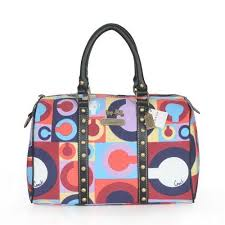 Official Coach Poppy Stud Medium Multicolor Luggage Bags SD8745