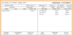 Free Paycheck Stubs Free Printable Check Stubs Template Business