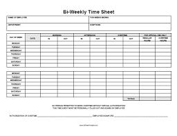 Bi Weekly Timesheet Template Free Free Weekly Time Sheets Bi Weekly Timesheets Oklmindsproutco