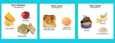 Day Three Military Diet Chart Healthy Figures