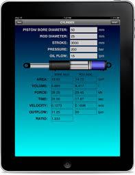 Hydraulic Cylinder Pressure Chart Hydraulic Calculator By Zanthic Innovations Inc