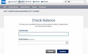 amex gift card balance check
