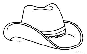 Hat Coloring Pages Cowboy Printable Dallas Cowboys Page