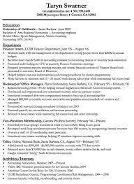 Sample Resume Resume Template For Undergraduate College Student