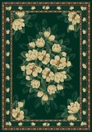 E Image Is Loading MagnoliaFloralHunterGreen5X8AreaRugCarpet