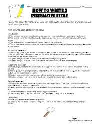 Persuasive Essays Worksheets Essay Worksheet 7th Grade Writing 5th