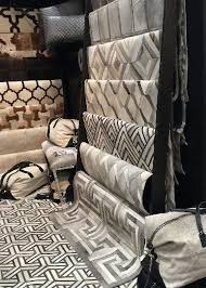 madisons a three year old rug studio based in larchmont ny showed contemporary hand cut hair on hide rugs cowhide decorative pillows and new leather