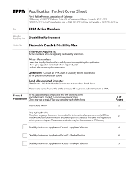 fppa application packet cover sheet