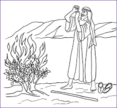 Small Picture Contemporary Art Sites Moses And The Burning Bush Coloring Pages