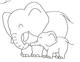 A Elephant Colouring Pages Kats Elephant Colouring Pictures