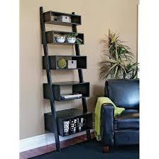 Linea 5 tier black leaning wall shelves orion series | Daniel\u0027s ...