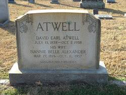 Nannie Bell Alexander Atwell (1876-1957) - Find A Grave Memorial