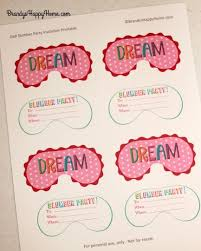 Diy Slumber Party Invitations Magdalene Project Org