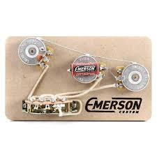 emerson custom blender 250k 5 way strat prewired kit