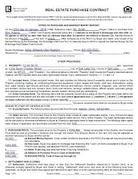 Real Estate Purchase Offer Template Form Contract Forms Free Buyer ...