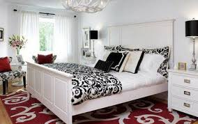 white and red bedroom decorating ideas