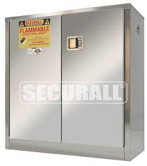 securall snless steel storage cabinets for flammables and hazardous materials snless steel cabinets