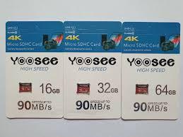 Thẻ nhớ YOOSEE 64Gb class 10 4K (FULL BOX) chính hãng [BH: 1 năm] zxc#