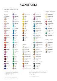Swarovski Colour Chart 2017 Swarovski Colour Chart Tzafora