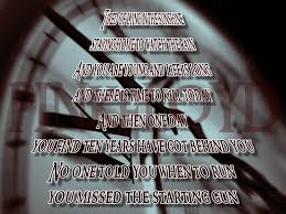 Pink Floyd Quotes Delectable Song Lyric Quotes In Text Image Time Pink Floyd Song Quote Image