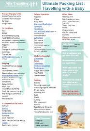 International Travel Packing Checklist Packing List For International Travel With Toddler