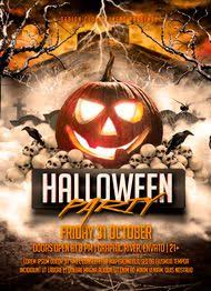 halloween template flyer halloween party flyer template by design cloud graphicriver