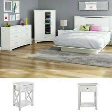 White Full Size Bedroom Set 2 Nightstands Modern Design Furniture ...