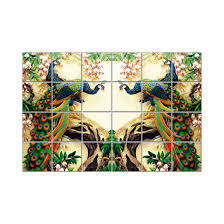 Tile Personalized 3d Tiles 196 Decor Branding Mural Digital Nish Gfx-3d - Effect Peacock Ceramic Gifts Wall Custom