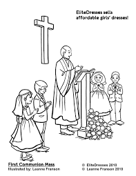 First Communion Mass Page To Colour Religious Ed