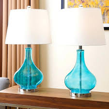 turquoise table lamp glass set of 2 uk turquoise table lamp