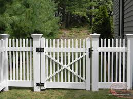 Picket Fence Gate Vinyl Fence Open Spaced Picket Colonial Fence