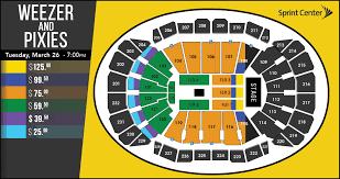 Sprint Center Seating Chart Rows Weezer Pixies Sprint Center