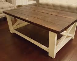 Farmhouse Coffee Table | Rustic Coffee Table | Solid Wood Farmhouse Coffee  Table | Built to