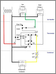 rheem heat pump contactor wiring diagram with low voltage rheem thermostat wiring color code at Rheem Thermostat Wiring Diagram