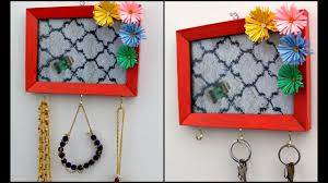 Turn Your Old Photo Frame Into Key Holder or Jewelry Holder