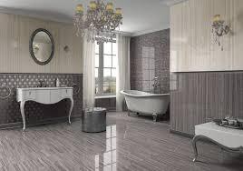 high tile bathroom