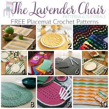 Free Crochet Placemat Patterns Interesting FREE Placemat Crochet Patterns The Lavender Chair