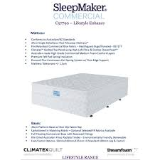 mattress king commercial. Sleepmaker Commercial Lifestyle Enhance Duracoil Hotel Bed Mattress Only King