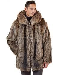 the hudson mid length rac fur coat for men