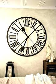 clock on wall giant clocks best images vintage stickers designs creatively digital sticker wa