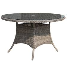 bentley garden large round rattan dining table