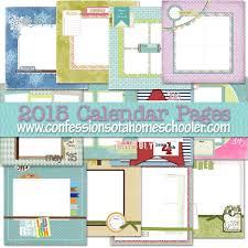 2015 Calendar Page 2015 Calendar Page Templates Confessions Of A Homeschooler