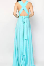 Tiffany Blue High Low Infinity Dress L